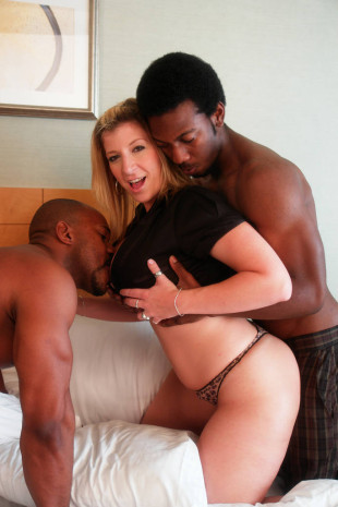 Sara Jay seduces two black guys